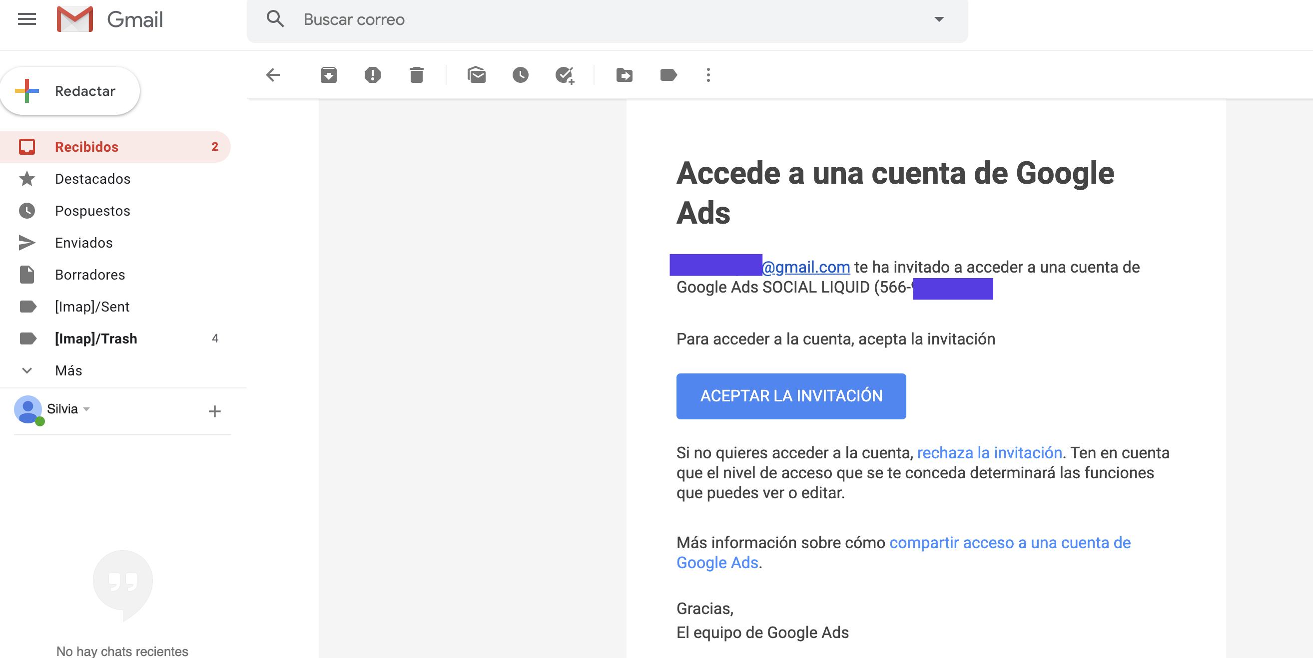 Google Ads: cómo dar acceso con tu cuenta a una agencia